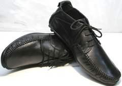 Мужские кожаные мокасины Ikoc 112-1Black