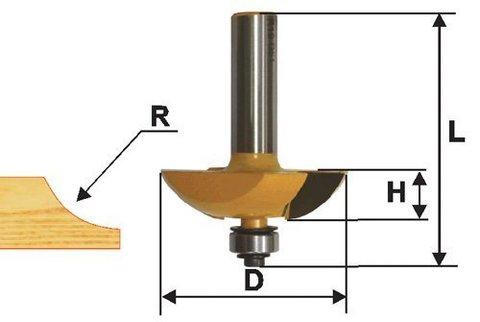Фреза фигирейная горизонтальная  двустворчатая 63,5 х 13 мм