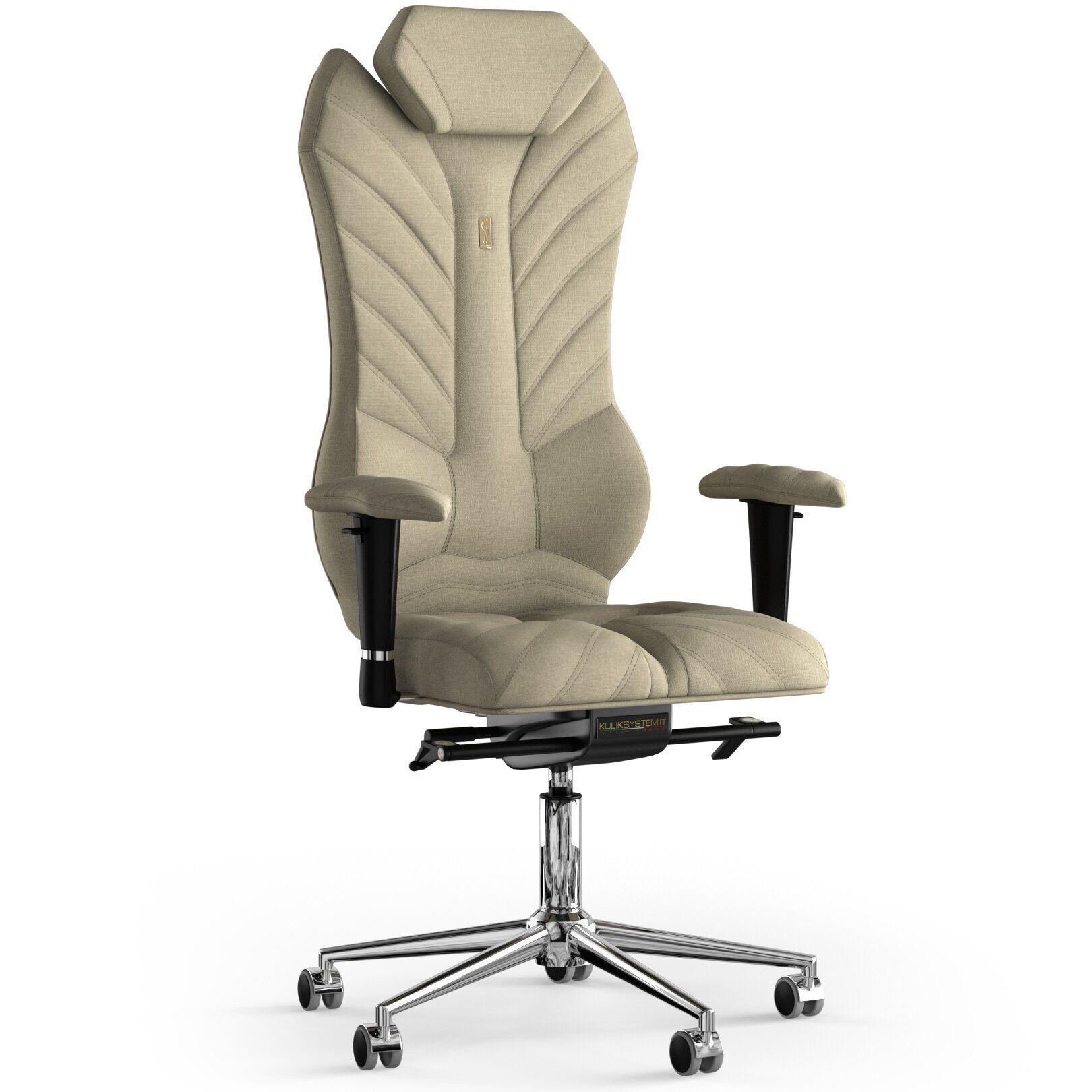 Кресло KULIK SYSTEM MONARCH Ткань с подголовником со строчкой
