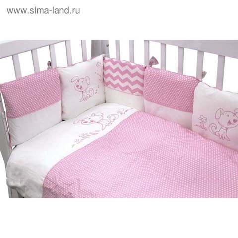 Борт в кроватку Топотушки Гав-Гав на молнии 12 подушек 171