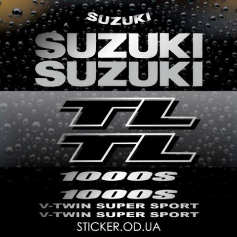 Набор виниловых наклеек на мотоцикл Suzuki TL 1000S 2000