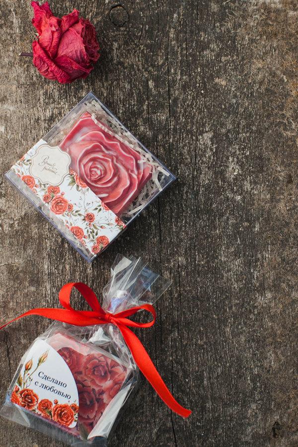 Этиклейка для мыла ручной работы Красные розы