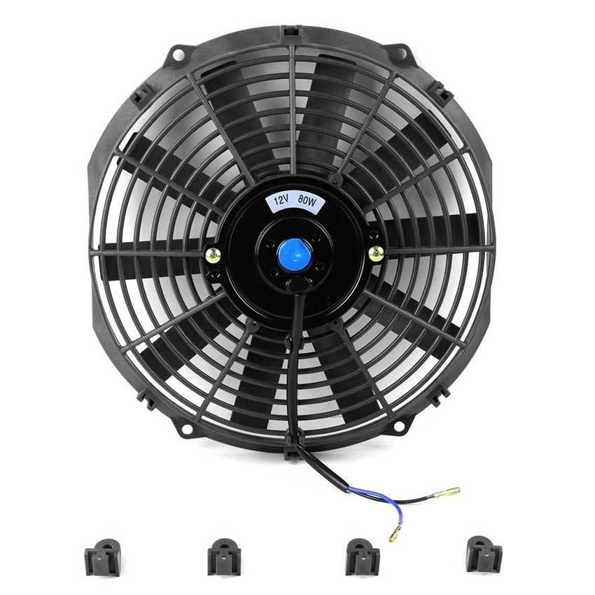 Дополнительный вентилятор охлаждения автомобиля, цвет черный