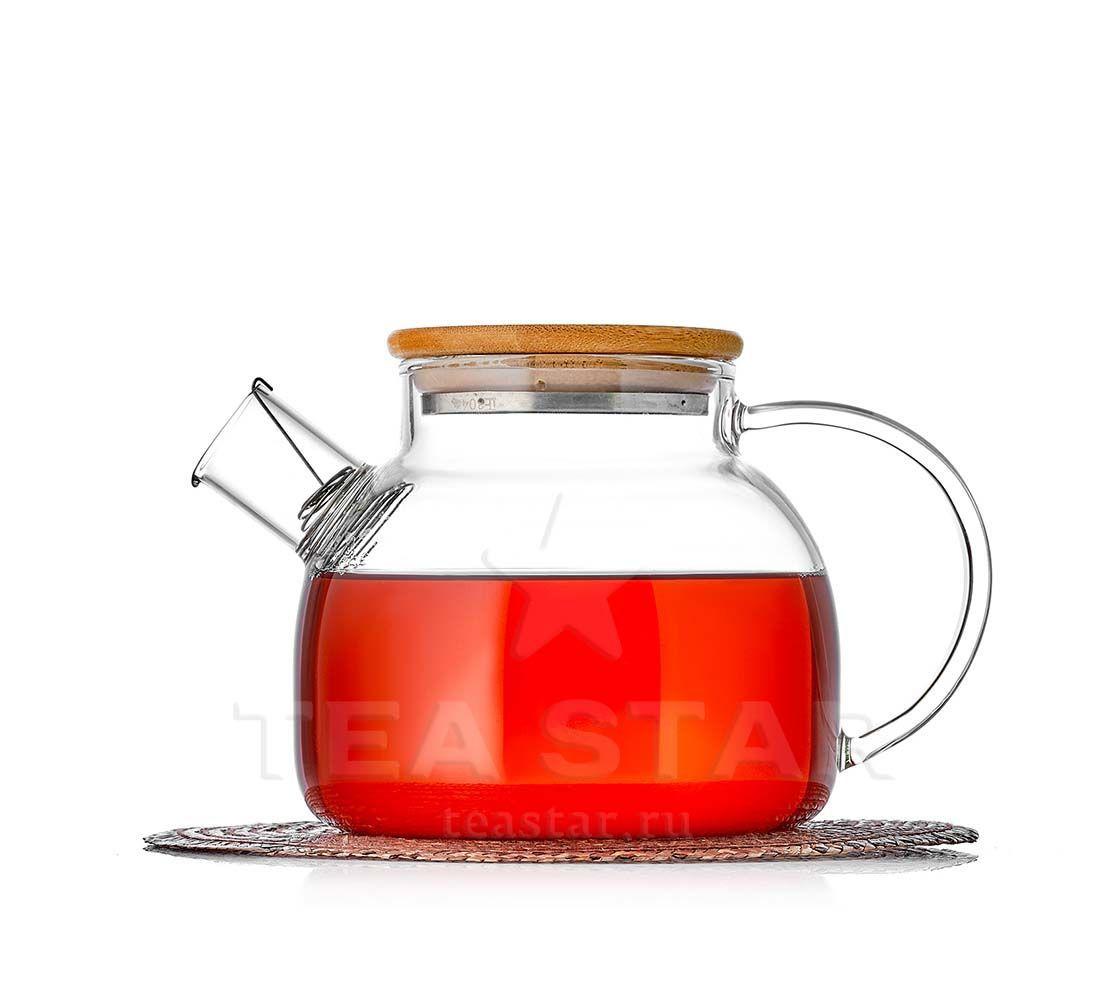 Каталог товаров магазина TeaStar Чайник заварочный Бамбук, стеклянный с бамбуковой крышкой, 1000 мл bambuk_900b.jpg
