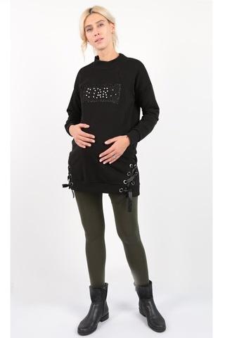 Туника для беременных и кормящих 10160 черный