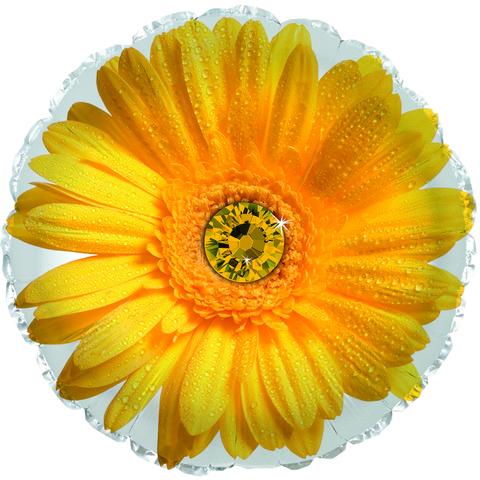 Фольгированный шар Гербера желтый