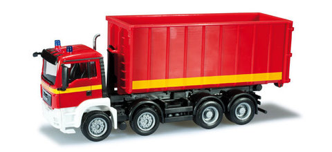 Herpa 090636 Пожарная машина MAN TGS M Euro 5 container trailer 4-axle