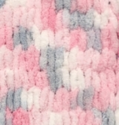 Пряжа Alize Puffy Color розово-серо-белый 5864