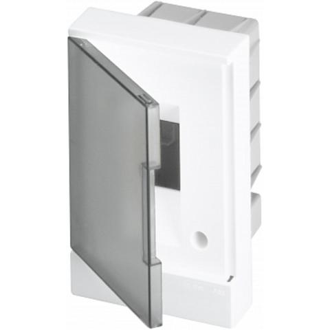 Бокс в нишу Basic E 2-модуля прозрачная дверь. Цвет Белый. (без клемм) 120mm*180mm*105mm IP40. ABB. 1SZR004002A1200