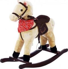 Jolly Ride Качалка меховая Лошадка (YR602)