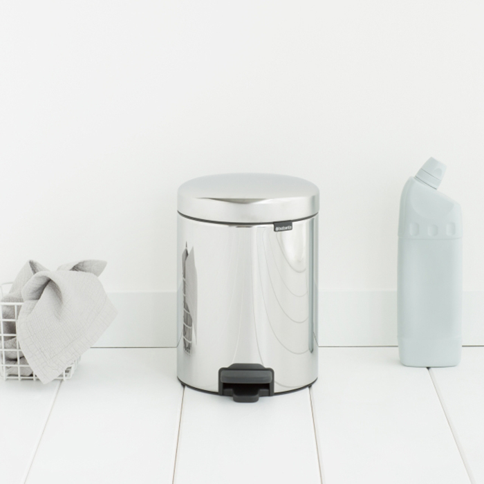 Мусорный бак newicon (5 л), металлическое внутреннее ведро, Стальной полированный, арт. 113444 - фото 1