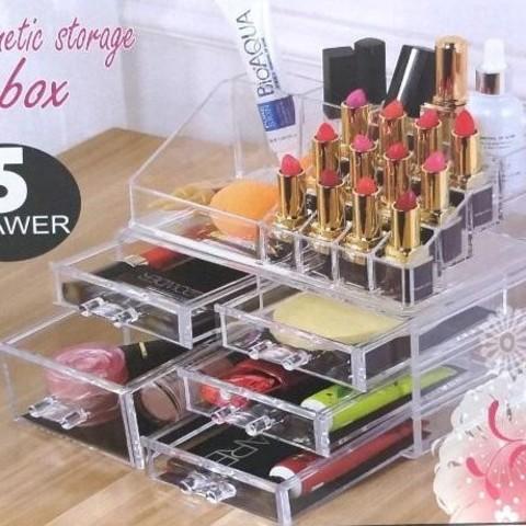 Акриловый прозрачный органайзер для косметики Cosmetic Storage Box