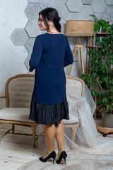 Жаклин. Повседневное платье больших размеров. Синий