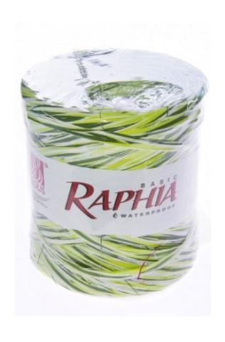 Рафия искусственная Микс Италия 200 м Цвет: салатовый