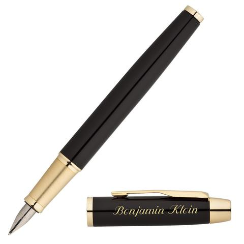 Перьевая ручка Parker IM Metal, F221, цвет: Black GT, перо: M123