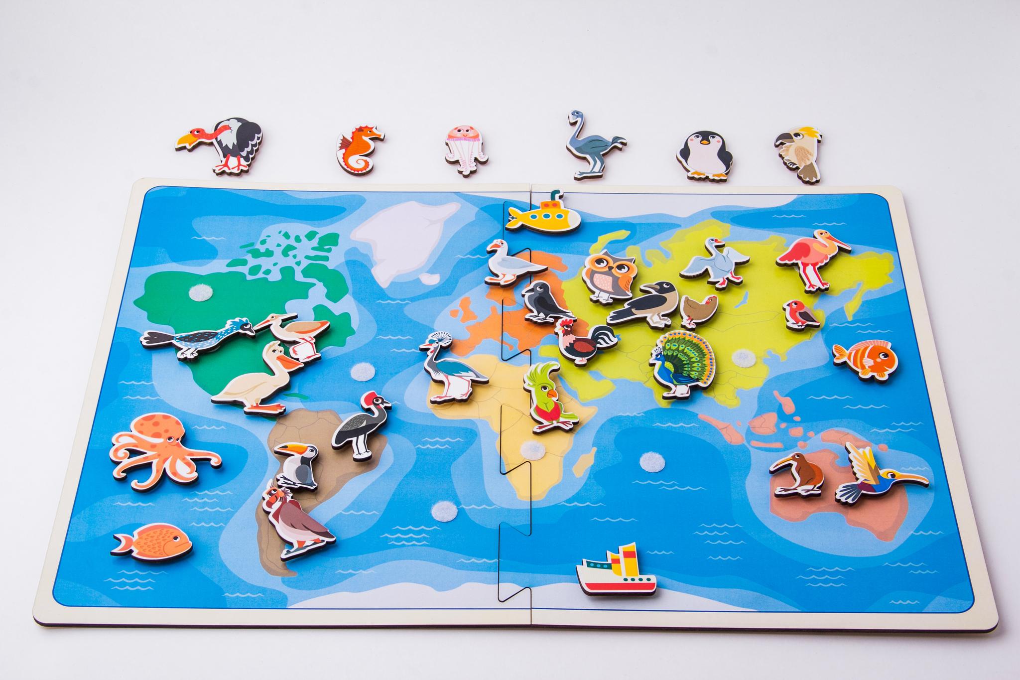 «Карта – липучка птицы»
