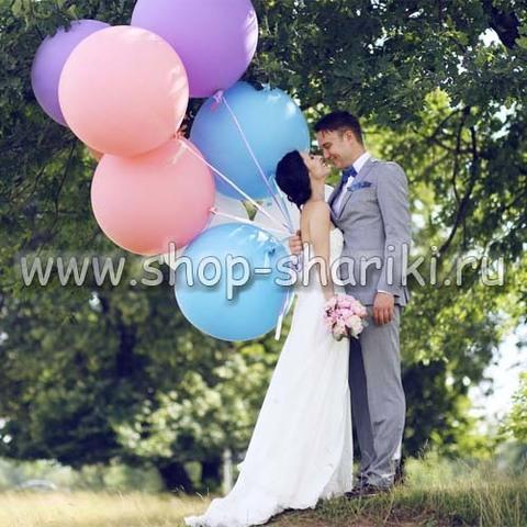 большие шары на свадьбу цветные