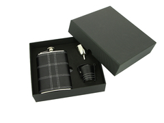 Итальянский набор с флягой S.Quire «Black set», 240 мл, фото 1
