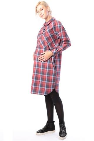 Платье для беременных и кормящих 10161 бордовый