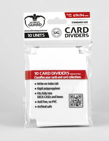 Card Dividers: White