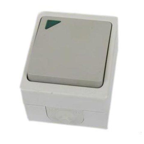Выключатель 1-кл. с подсветкой открытой установки IP54 10А