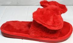 Меховые тапочки женские красные Yes Mile A-08 Red Bow.