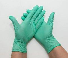 Перчатки нитриловые UNEX 100 шт, L, зеленые