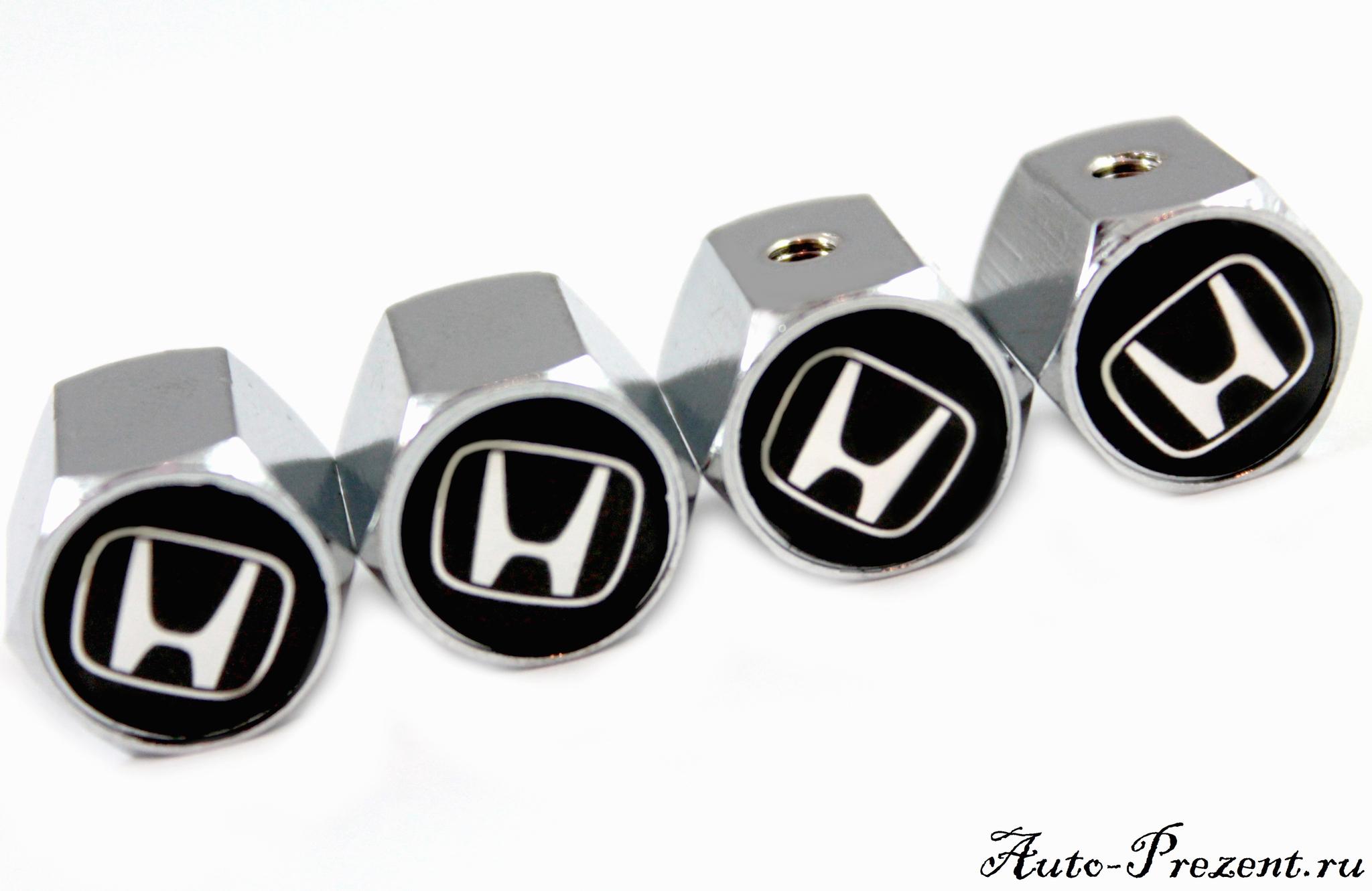 Колпачки на ниппель HONDA с защитой от кражи