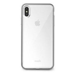Чехол Moshi Vitros для iPhone XS Max, пластик, прозрачный серебристый