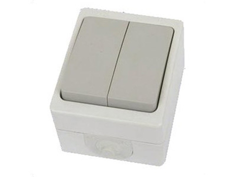 Выключатель 2-кл. открытой установки IP54 10А