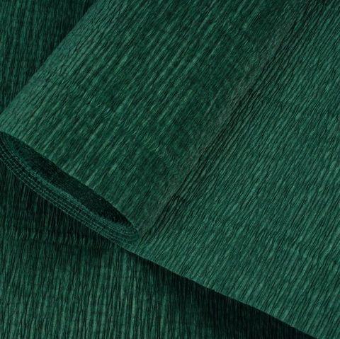 Бумага гофрированная, цвет 561 темно-зеленый, 180г, 50х250 см, Cartotecnica Rossi (Италия)