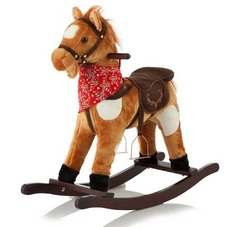 Jolly Ride Качалка меховая Лошадка (YR603)