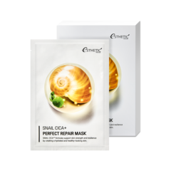 Тканевая маска для лица с Муцином улитки , ESTHETIC HOUSE, SNAIL CICA+ PERFECT REPAIR MASK