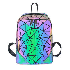 "Геометрический неоновый рюкзак ""Хамелеон"""