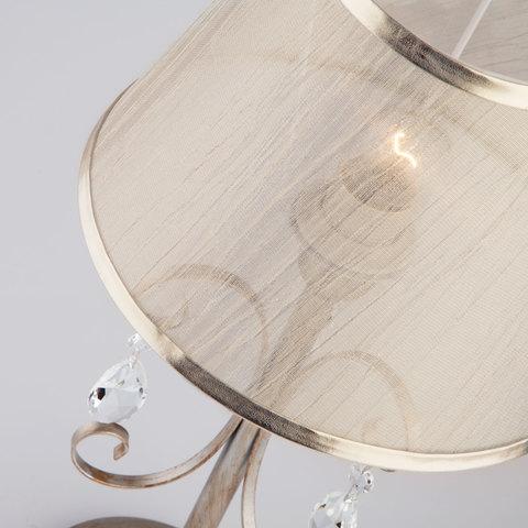 Настольная лампа в классическом стиле 01051/1 серебро