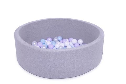 Сухой бассейн Anlipool 100/30см серый комплект №55 Mountain lavender