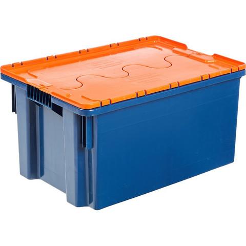 Ящик п/э 600х400х300 сплошной, с крышкой, цвет в асс-те (601-1)