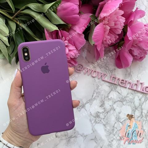 Чехол iPhone X/XS Silicone Slim Case /purple/