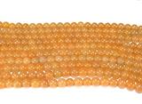 Нити бусин из авантюрина красного, шар гладкий 6мм (оптом)