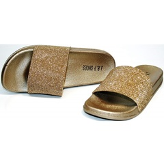 Сланцы J.B.P. Shoes NU25 Gold.