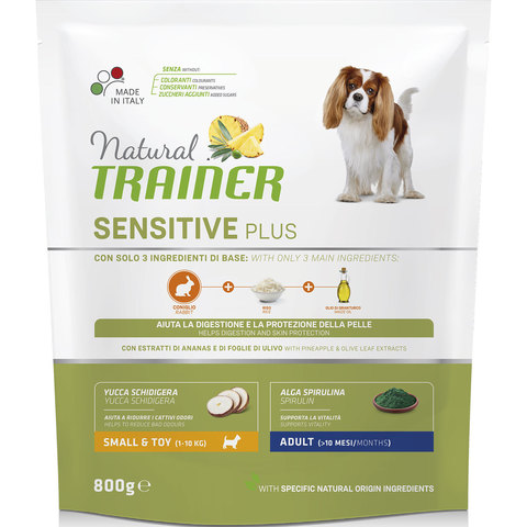 Сухой корм Natural Trainer Sensitive Plus Adult Mini Rabbit