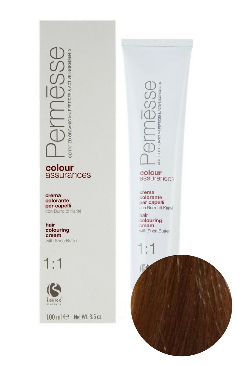 Крем-краска для волос 8.43 Светлый блондин медно-золотистый Permesse, Barex
