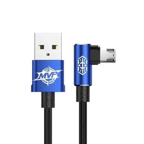 Кабель Baseus MVP Elbow Type Cable USB For Micro 2A 1M Blue