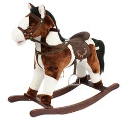 Jolly Ride Качалка меховая Лошадка (YR614)