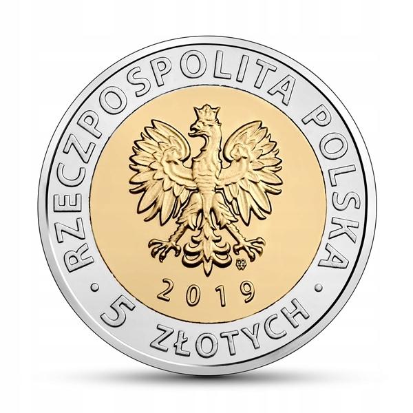 5 злотых Курган освобождения. Польша. 2019 год