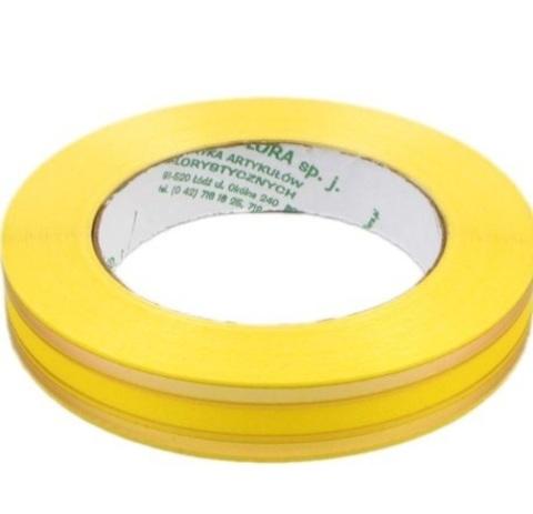 Лента золотая полоса PL (размер: 2 см х 50 ярдов) Цвет: лимонный