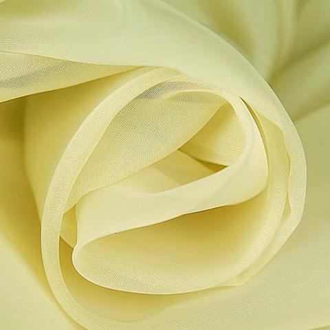 Ткань вуаль однотонная для штор - светло-желтая. Ш - 300 см. Арт. -ERT 17