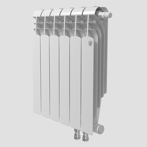 Биметаллический радиатор с нижним правым подключением Vittoria Super 500 VD - 10 секций