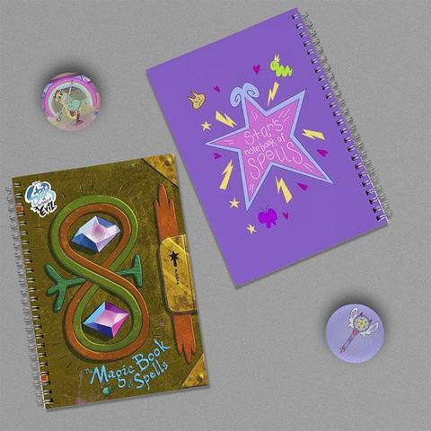Дневники Звёздочки Баттерфляй: набор из 2 тетрадей и 2 значков