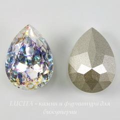4320 Ювелирные стразы Сваровски Капля Crystal White Patina (18х13 мм)